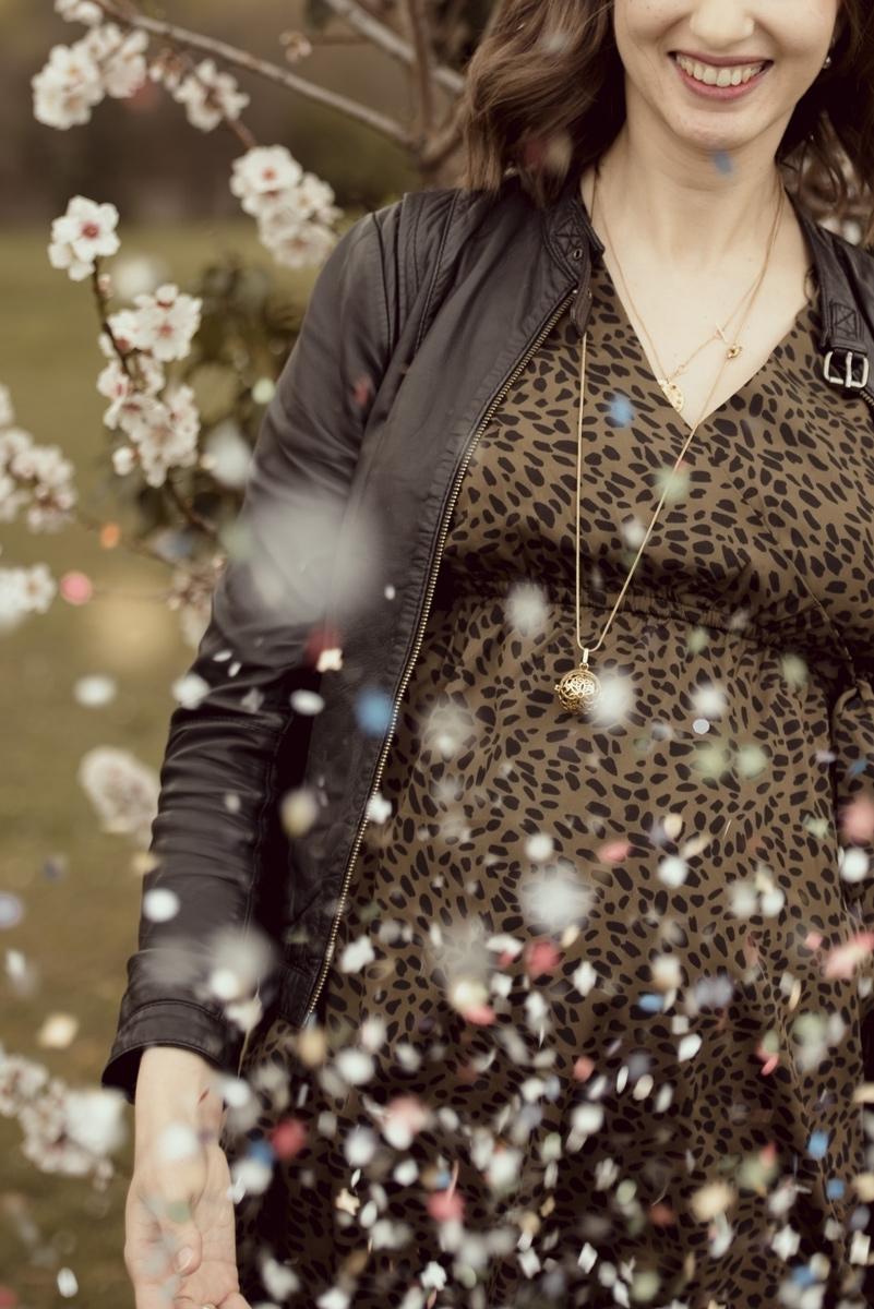 confettis pour uen seance grossesse