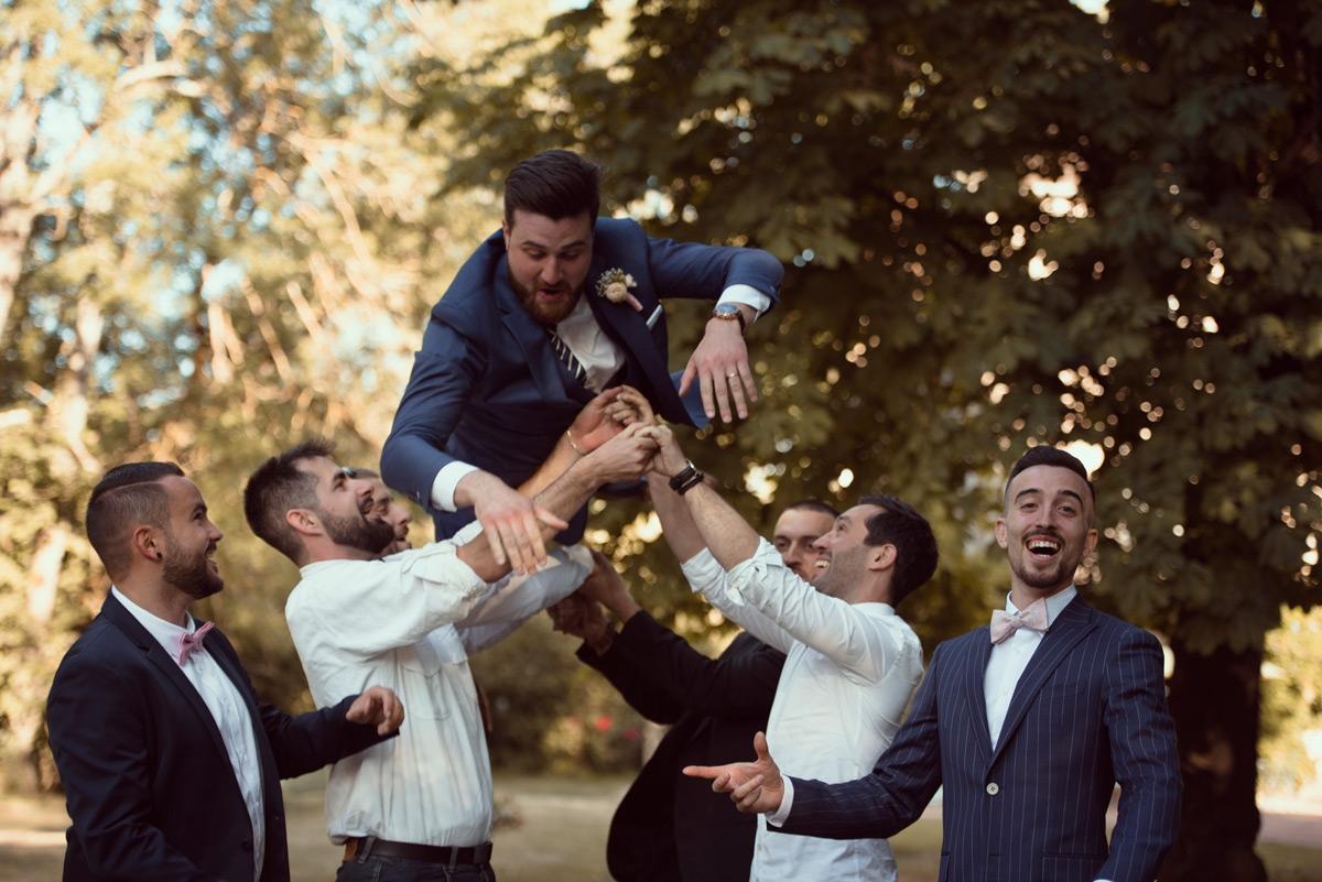photos de groupe jetée du marié riom
