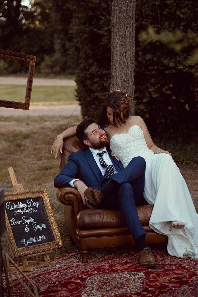 photobooth des maries au chateau du guerinet