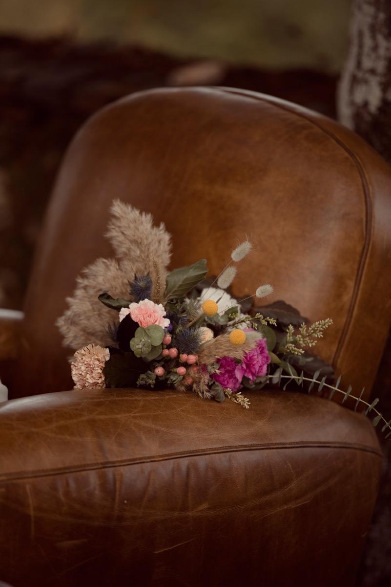 decoration de mariage et bouquet de mariee