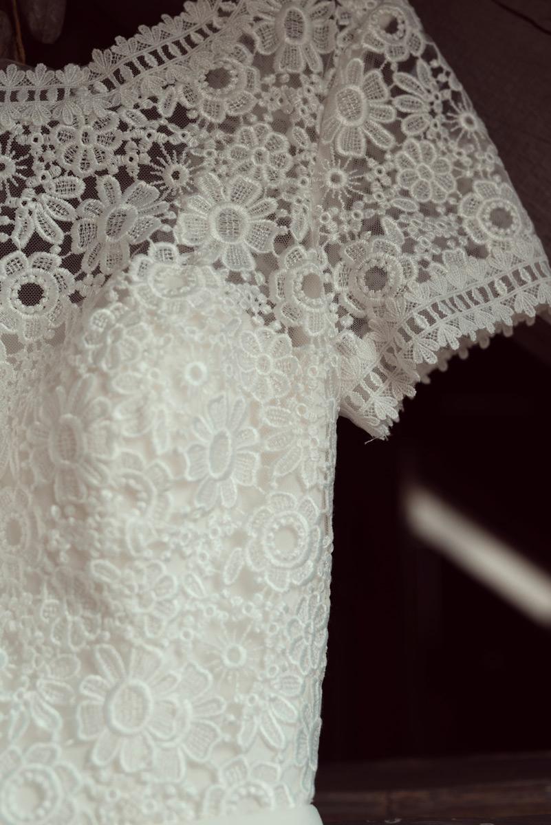 detail de la robe de mariee